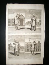 Picart C1730 Folio Antique Print. Religious. Spanish Inquisition